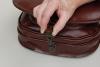 velká lovecká kožená kabelka kabelka