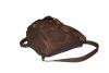 Kožený batoh vepřová štípenka tmavohnědý