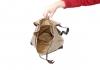 Kožený látkový batoh Lux dvoukapsový