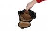 Kožený batoh speciál černý
