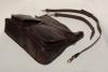 Kožená kabelka se zipovými kapsami
