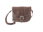 Dámská kožená kabelka s klopou