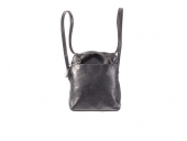 Kožený batoh - kožená kabelka černá