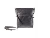 Univerzální černá kožená kabelka Helimann