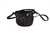 Malá černá kožená kabelka