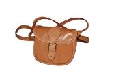 Malá rezavá kožená kabelka