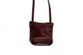 Koňaková malá kožená kabelka