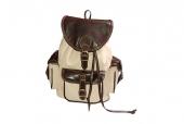Kožený batoh speciál hnědo-béžový