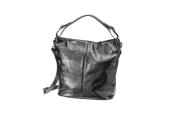 Dámská černá kožená kabelka