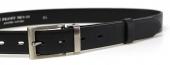 Společenský kožený černý pánský opasek 30 mm