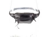 Kožená ledvinka černá