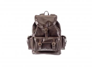 Kožený batoh velký nastavitelné popruhy