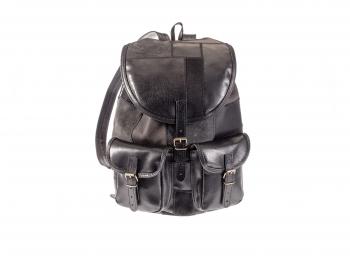 batoh kožený sešívaný z kousků