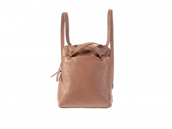 Kožený batoh - kožená kabelka koňaková