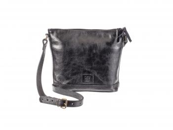 Praktická kožená kabelka