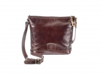 Koňaková kožená kabelka