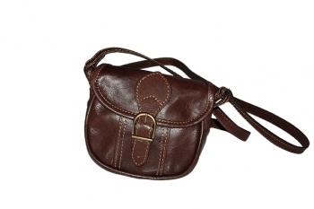 Malá kožená hnědá kabelka