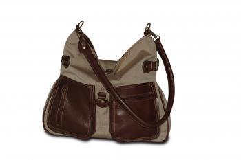 Kombinovaná kožená kabelka