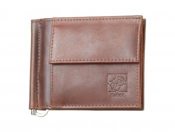 Hnědá kožená peněženka Dolarka