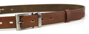 Společenský kožený koňakový pánský opasek 30 mm