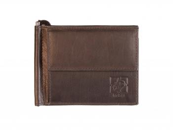 Černá kožená peněženka Dolarka